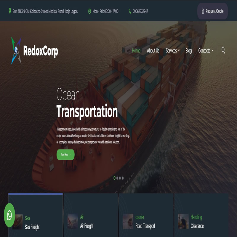 RedoxCorp-Shipping & Logistics Company